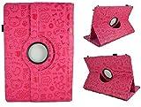 Funda con diseño original con dibujos para Tablet Clan Tv 10.1' - Rosa Fucsia Dibujos (ST-014)
