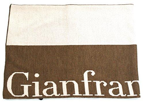 Gianfranco Ferre Sciarpa Unisex Logata Made in Italy Cm 160X30 Beige