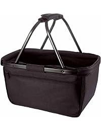 HALFAR - sac panier pliable - shopping courses provisions - 1807777 - noir cadre noir