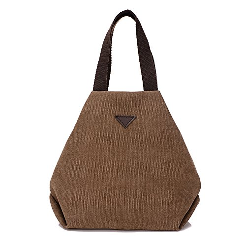 BYD - Donna Mini piccolo Borsa Handbag Tote bag Borsa a Spalla con 2 Tasche interne Brown