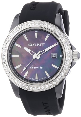 GANT Women's Quartz Watch with White Dial Analogue Display and Gold Plastic W70441