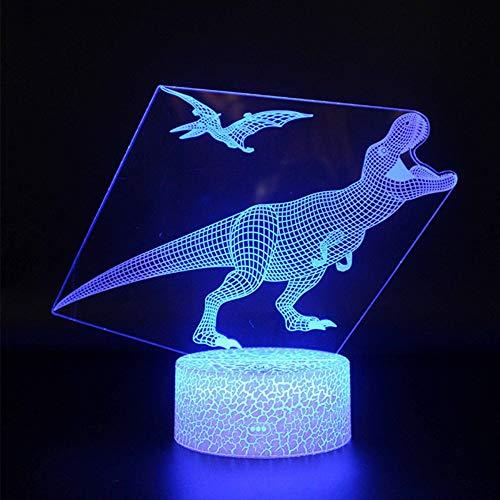 Lampada 3d regalo creativo foglio acrilico led table dinosaur luce basket 7 colori cambia lampada multi-design per camera da letto arte 3d scultura creativa decorativa