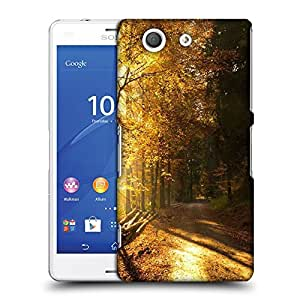 Snoogg Path in Forest Designer Protective Phone Back Case Cover for Sony Xperia Z3 Compact