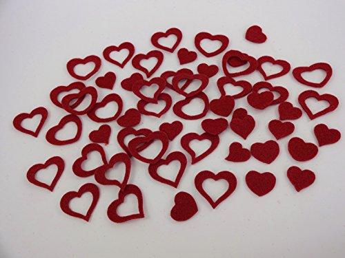 Herz-Herzen-aus-FILZ-Streudeko-5-Gramm-ca-50-Teile-Ca-2-3cm-In-BORDEAUX-bd