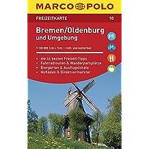 MARCO POLO Freizeitkarte Bremen, Oldenburg und Umgebung