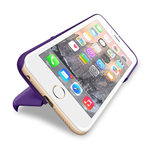 iPhone 6s Case, roocase iPhone 6 Slim Fit Kickstand [Switchback Series] Case PC Hard Shell Cover for Apple iPhone 6 / 6s (2015), Purple Purple