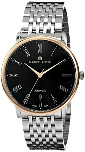 Maurice Lacroix Les Classiques Tradition Gents Watch, 18Kt Rose gold, Black