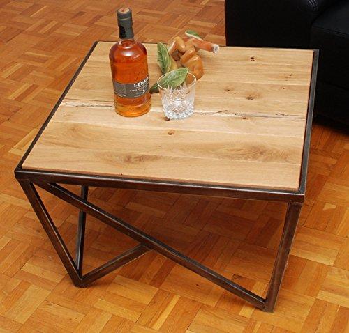 Couchtisch U0027VENLY Iu0027, Beistelltisch, Massivholz Tischplatte Eiche,  Industrial Style