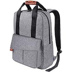 Business Rucksack, REYLEO Reise Laptop Backpack für Büro und Uni mit Antidiebstahltasche 15.6 Zoll Laptop Tasche Herren und Damen Wasserabweisend Grau-24 Liter RB23