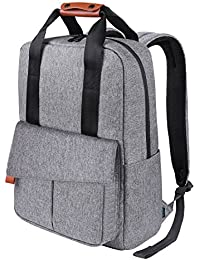 REYLEO Backpack Business Laptop Bag 15.6 Anti-theft Rucksack Casual Daypack with Leather Handle for Women Men - 24L / Light Grey RB23