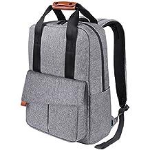 REYLEO Rucksack Business Backpack mit viel Stauraum 15.6 Zoll Laptop Tasche Herren und Damen Wasserdicht Grau-24 Liter RB23