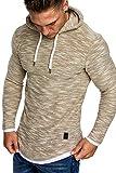 Amaci&Sons Herren 2in1 Kapuzenpullover Hoodie Sweater Pullover Sweatshirt 4013
