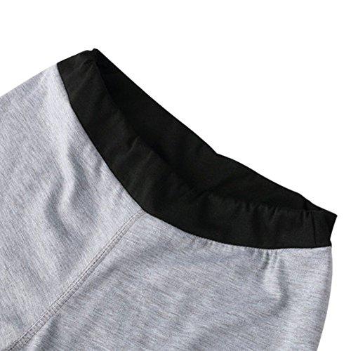 Yalatan Women Leggings Summer Slim Patchwork Fashion Girls Full Length Pants Grey