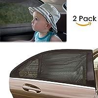 Aodoor 1 Set (2 pièces) Nuances de fenêtre de voiture, Universelle pour voiture pare-soleil pour fenêtre latérale arrière Offre une protection UV maximale pour bébé, enfant, enfant et chien