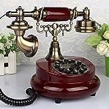 FACAIG Telefon Antik Telefon Europäischen retro altmodische Massivholz Garten mahagoni Farbe Telefon Festnetz (Farbe: A)