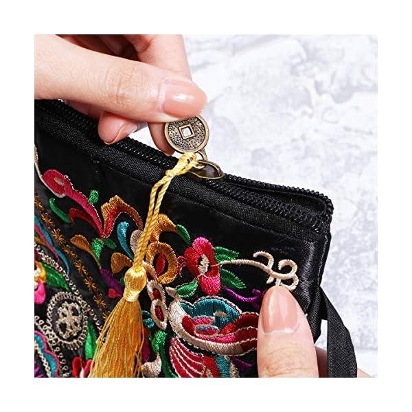 51DbuubnRGL. SS600  - Tinksky Vintage Mujer étnica Monedero Cartera Bolsa Mariposa Flor teléfono