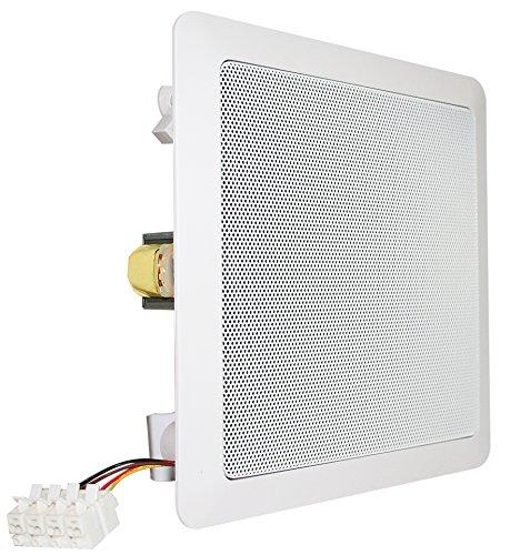 Visaton 50154 Lautsprecher DL 18/2 SQ 100V+8 Ohm weiß