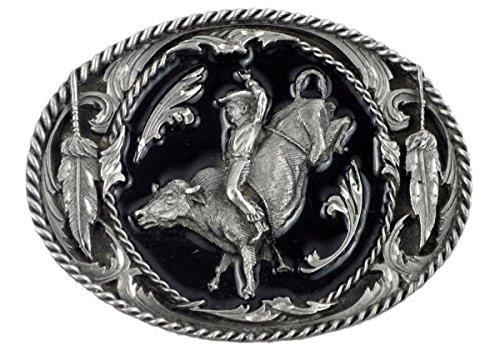 Gürtelschnalle Buckle Bull Riding Lizensiert für Wechselgürtel Gürtelschnalle Bull Riding