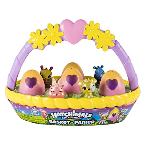 Hatchimals CollEGGtibles Spring Basket with 6 Hatchimals CollEGGtibles