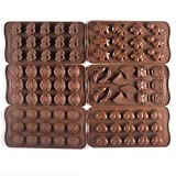 Bekith Silicone Mould with Chocolate Panels for Chocolate DIY Candy Molds 6set