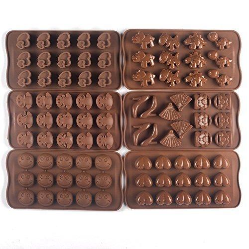 Bekith stampo a 6scomparti per cioccolatini, in silicone
