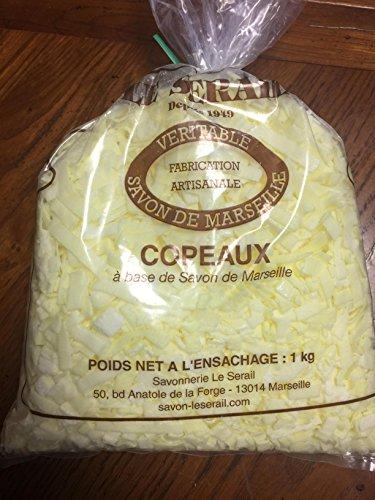 1kg Copeaux de savon de marseille - Parfum citron - lessive au savon de marseille - fabrication artisanale