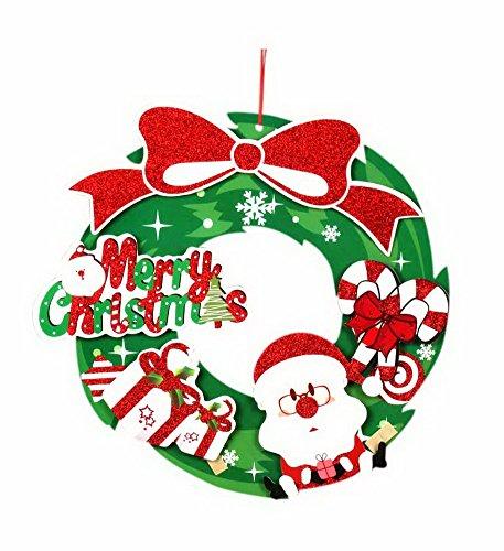 Koala Superstore Autocollant de Porte de Mur de fenêtre de décorations Noël Homme et Assiettes Couronne 16 Pouces