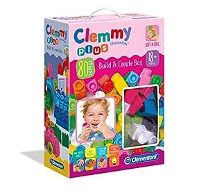 Clementoni-17258-Clemmy Plus-Build and Create Box, Multicolor