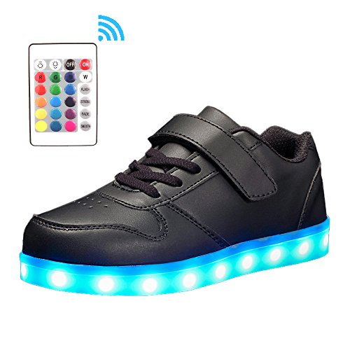 Voovix-Kids-Low-Top-Led-Light-Up-Shoes-con-Control-Remoto-Zapatos-con-Luces-Para-Nios-y-Nias