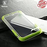 BlueInk Guards Series Baseus Back Case For iPhone 7 Plus Electroplating Arc edge Shock Absorption Bumper Cushion + Scratch Resistant Clear TPU Design Back Case (Green)