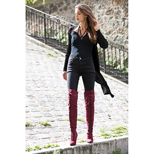 Ideal Shoes -  Jeans  - Donna Nero