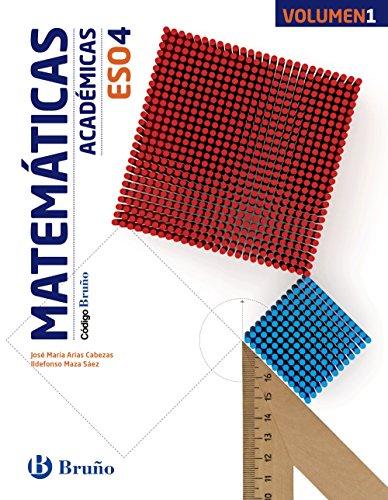 Código bruño matemáticas académicas 4 eso - 3 volúmenes