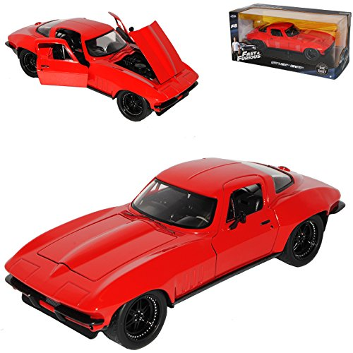 Jada Chevrolet Corvette C3 Coupe Rot Letty´s Fast & Furious 8 The Fast and The Furious 1/24 Modell Auto