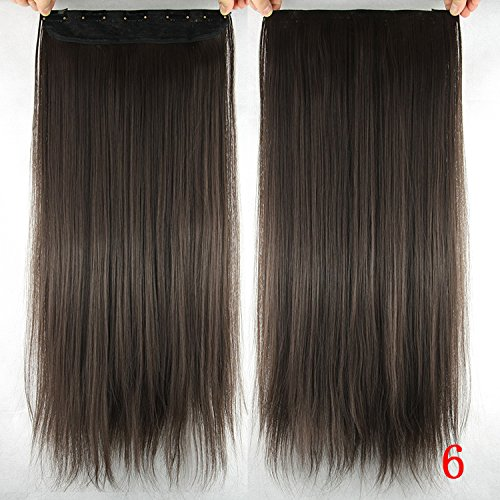 Homeoculture Straight Synthetic 24 inch Hair Extension With Free Puff Maker (Brown)