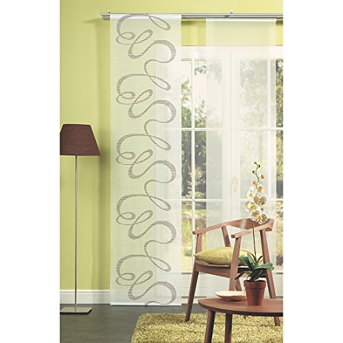 Home fashion 87967-760 panel japonés, Voile-Scherli, 245 x 60 cm, piedra