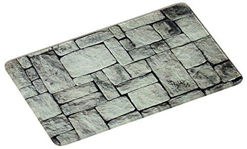 Glas Schneideplatte, Motiv Stein, Küchen Schneidebrett, in 3 Größen, Servierbrett, Servierplatte (klein 23x14cm)