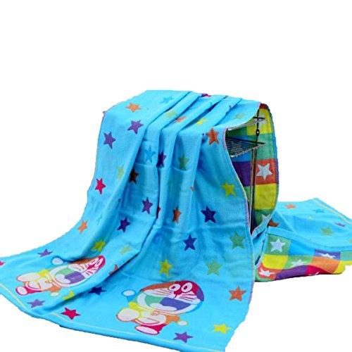 Baumwolle Dreischichtiges Gaze-Badetuch Dreischichtiges Tuch Erwachsenes Badetuch Badestrand Handtuch Bad Handtuch Tuch Erwachsene Kinder Badetuch Baby-Bademode Männer Und Frauen Absorbierende Handtuch,DoraemonTehran