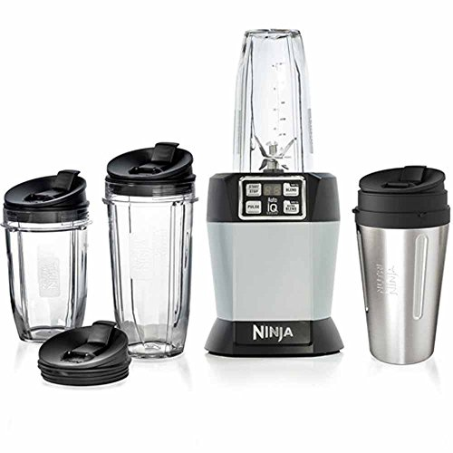 Price comparison product image Nutri Ninja PRO BL480UKCO 1000w Motor Base with Auto-IQ Technology Blender IQ Extractor and 4 Size Cups,  Silver