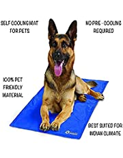 24x7 eMall Polar Pooch Portable Pressure Activated Cooling Pad with Gel Dog Bed Mat (Blue, 83 x 55 cm)