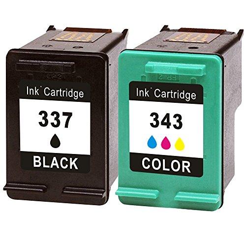 Inmax Wiederaufbereitet Ersatz für HP 337 / HP 343 2-er Pack Druckerpatronen...