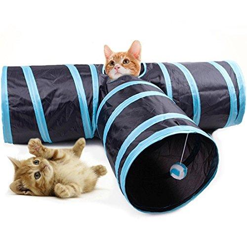 Katze Tunnel Spielzeug Katze Tunnel Spielzeug, Faltbar Kätzchen Hündchen Klein Haustier Hund Hase Komisch Spielen Trainieren Zusammenklappbar 3 Lauf Weg