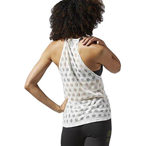 Reebok Damen Yoga Star Tank Ärmelloses Shirt Chalk