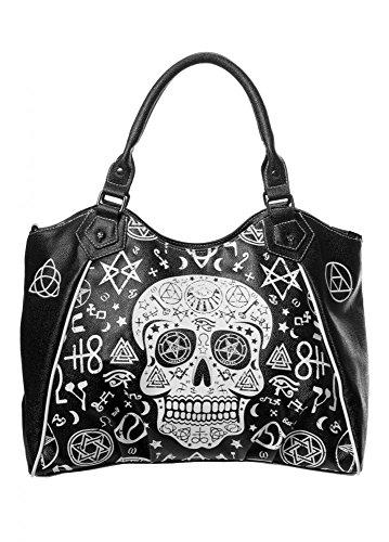 banned-apparel-calavera-ocultista-bolso-negro-negro-talla-unica