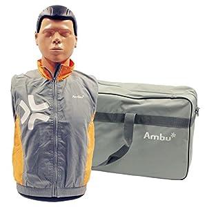 Ambu 1865 Man Basic Trainingspuppe mit einer Gesichtsmaske, 25 Luftbeuteln und Tragetasche