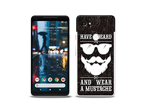 etuo Google Pixel 2 XL - Hülle Fantastic Case - Trage Bart - Handyhülle Schutzhülle Etui Case Cover Tasche für Handy