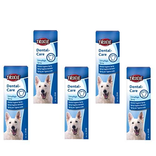 Trixie Zahnpflege-Spray 5-er Set zum Zähneputzen für Hunde hält den Atem frisch