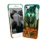 Mystic Wolf Shine Bright Moon Dark Night_004475 Phone Case Cover Handyhulle Handyhülle Handy Hülle Schutz for Samsung Galaxy S7 Edge Funny Gift Christmas