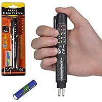 JTENG Bremsflüssigkeitstester Bremsflüssigkeitsprüfer Brake Fluid Tester Prüfgerät Pen mit 5 LED Anzeige für Auto Fahrzeug DOT 3/4/5