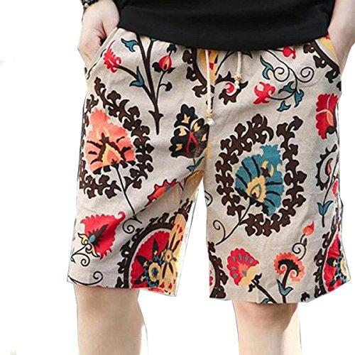 CHT Pantaloni Di Cotone Casuale Degli Uomini Di Cinque Pantaloni Vacanza Al Mare Timbro 1