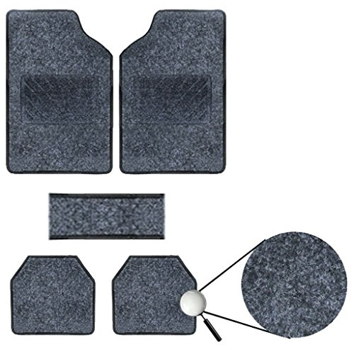 Vheelocityin Best Quality Set of 5 Carpet Black Car Foot Mat / Car Floor Mat for Maruti Suzuki Ciaz